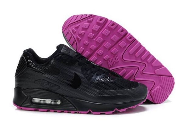 Nike Air Max 90 Hyperfuse Womens Shoes Black Pink