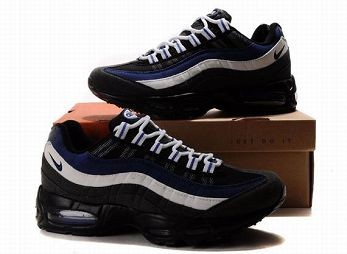 Nike Air Max 95 Mens Trainers Black Blue White Black