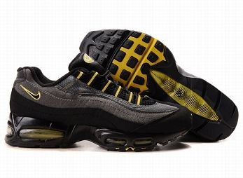 Nike Air Max 95 Mens Trainers Black Grey Yellow