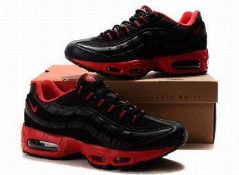 Nike Air Max 95 Mens Trainers Black Red