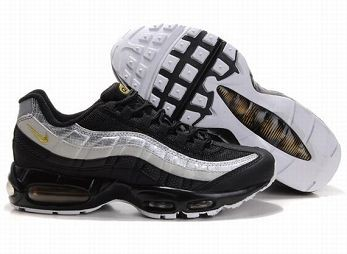 Nike Air Max 95 Mens Trainers Black Silver Gold