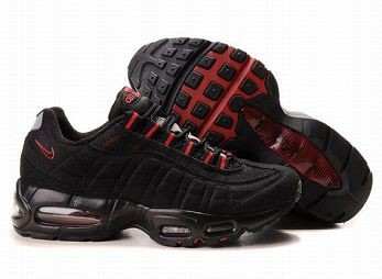 Nike Air Max 95 Mens Trainers Black Sport Red
