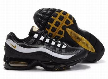 Nike Air Max 95 Mens Trainers Black White Gold