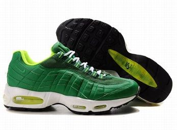 Nike Air Max 95 Mens Trainers Green White Black