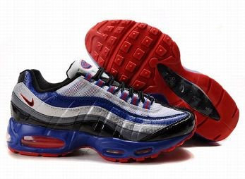 Nike Air Max 95 Mens Trainers White Blue Black Red