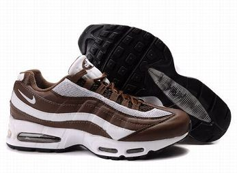 Nike Air Max 95 Mens Trainers White Brown Black