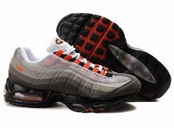 Nike Air Max 95 Mens Trainers White Dark Grey Orange