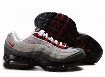 Nike Air Max 95 Mens Trainers White Dark Grey Red