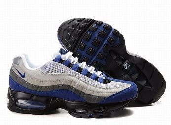 Nike Air Max 95 Mens Trainers White Grey Blue Black