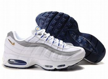 Nike Air Max 95 Mens Trainers White Grey Blue