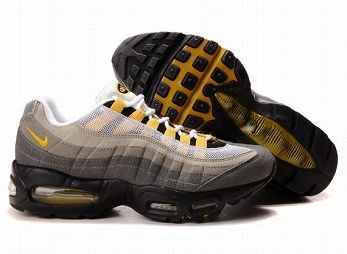Nike Air Max 95 Mens Trainers White Grey Yellow