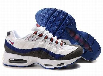Nike Air Max 95 Mens Trainers White Orange Blue Anthracite