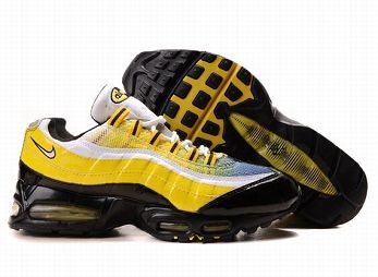 Nike Air Max 95 Mens Trainers White Yellow Black