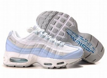 Nike Air Max 95 Womens Running Shoe White Grey Blue
