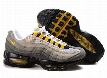 Nike Air Max 95 Womens Running Shoe White Grey Yellow