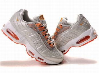 Nike Air Max 95 Womens Running Shoe White Orange