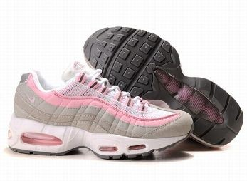 Nike Air Max 95 Womens Running Shoe White Pink Grey