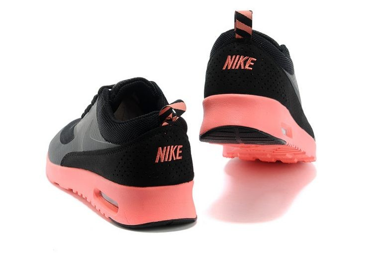 Nike Air Max Thea Womens Trainers Black Anthracite Salmon