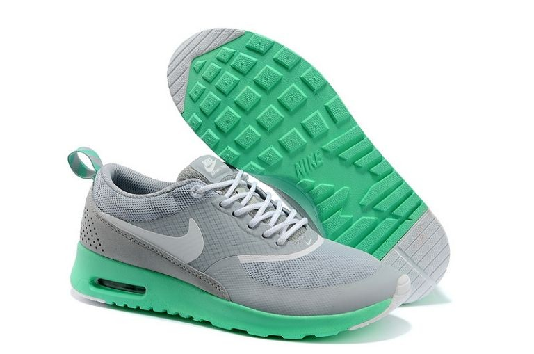 Nike Air Max Thea Womens Trainers Light Grey New Green