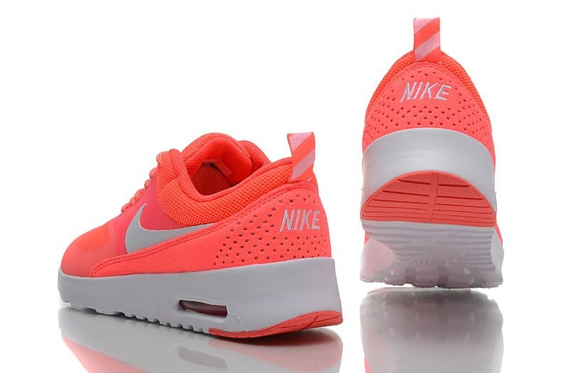 Nike Air Max Thea Womens Trainers Salmon Red Silver