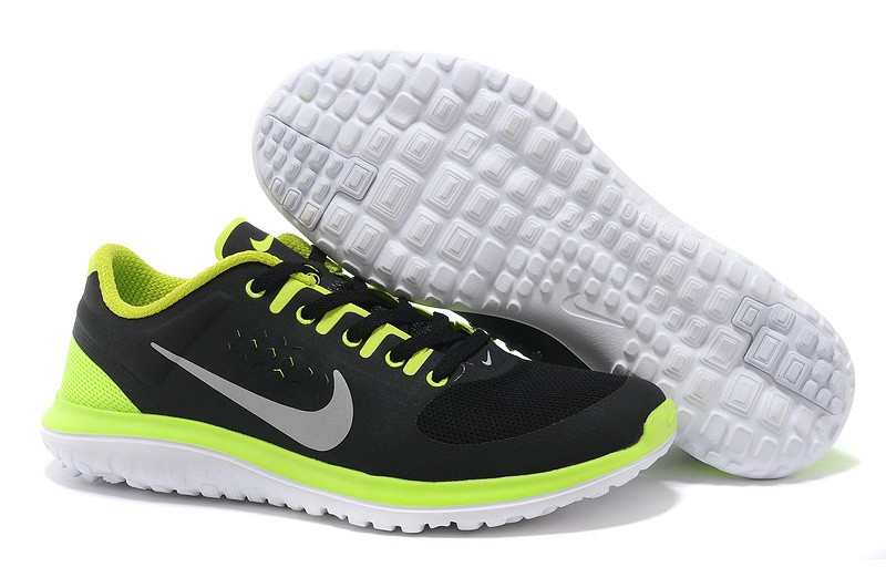 Nike FS Lite Run Mens Running Shoes Black Green