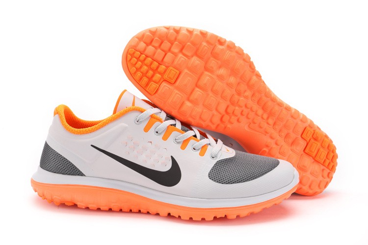Nike FS Lite Run Mens Running Shoes Grey Orange