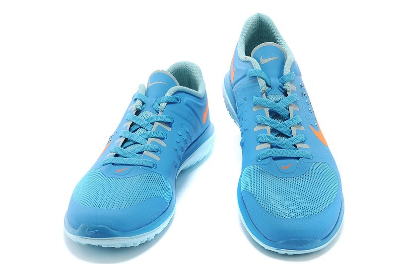 Nike FS Lite Run Mens Running Shoes Sky Blue Orange