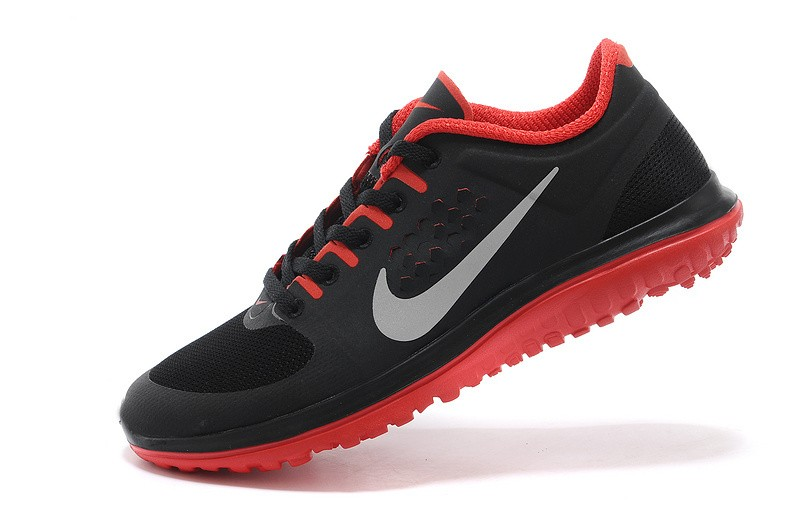 Nike FS Lite Run Womens Running Shoes Black Red