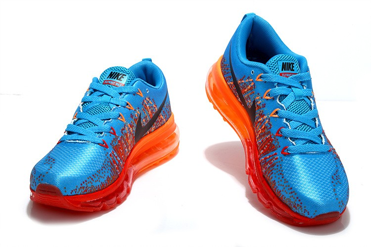 Nike Flyknit Air Max Womens Running Shoes Blue Black Orange