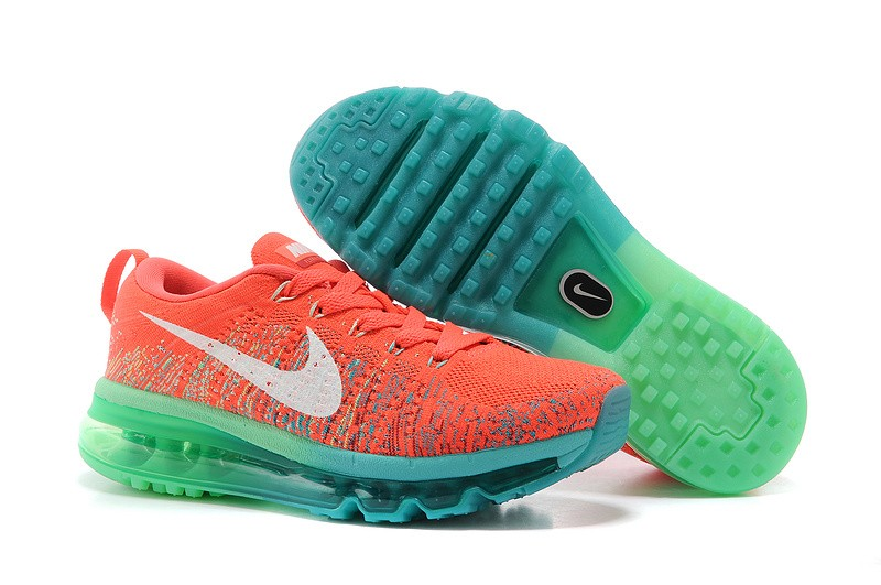 Nike Flyknit Air Max Womens Running Shoes Orange Red Blue Green