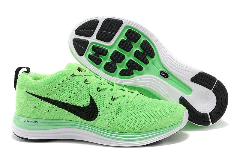 Nike Flyknit Lunar 1 Mens Electric Green Running Shoes