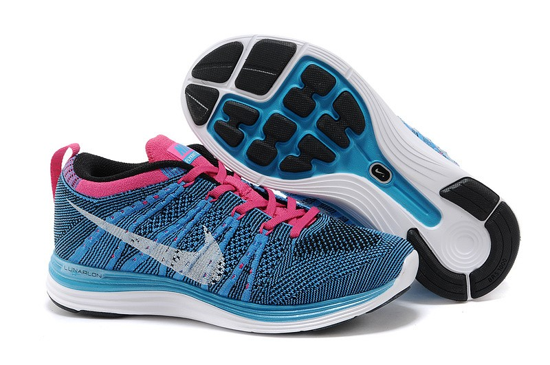 Nike Flyknit Lunar 1 Womens Turquoise Pink Running Shoes