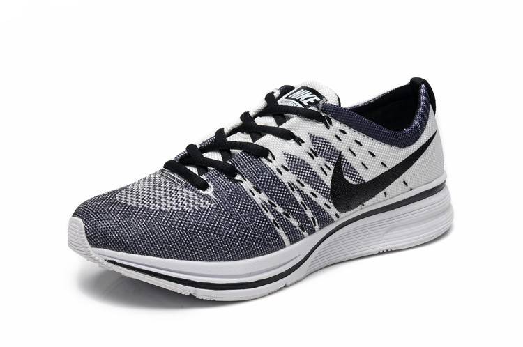 Nike Flyknit Racer Netty Womens Black White Running Shoes