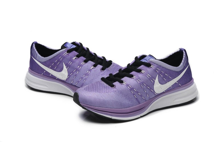 Nike Flyknit Racer Netty Womens Purple White Running Shoes
