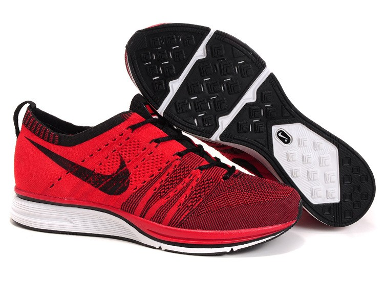 Nike Flyknit Trainer+ Woven Mens Running Shoes Red Black