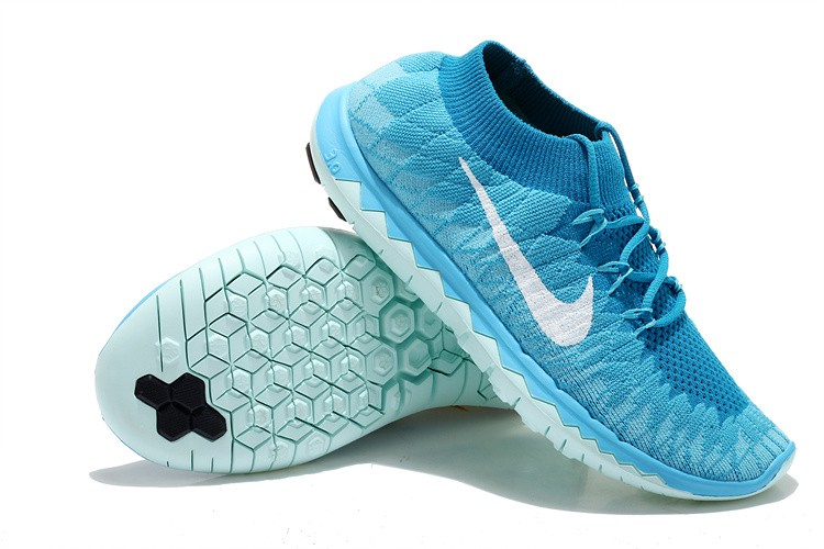 Nike Free 3.0 Flyknit Womens Running Shoes Blue Jade