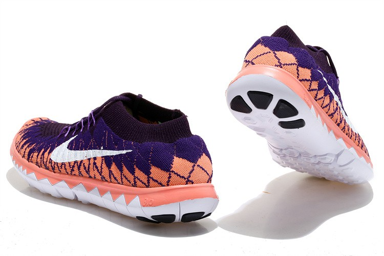 Nike Free 3.0 Flyknit Womens Running Shoes Purple Orange