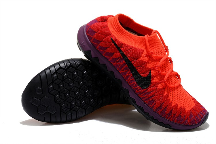 Nike Free 3.0 Flyknit Womens Running Shoes Red Purple Black