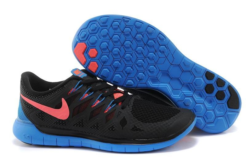 Nike Free 5.0 2014 Men's Running Shoe Black Blue Pink
