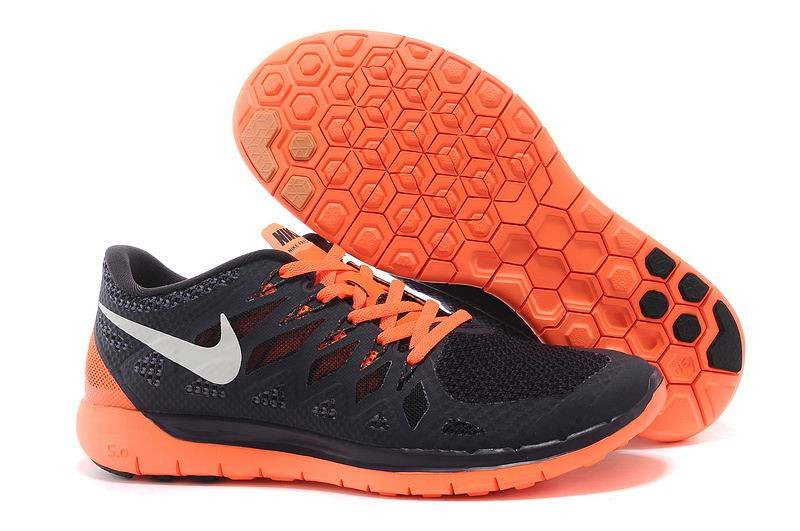 Nike Free 5.0 2014 Men's Running Shoe Black Orange