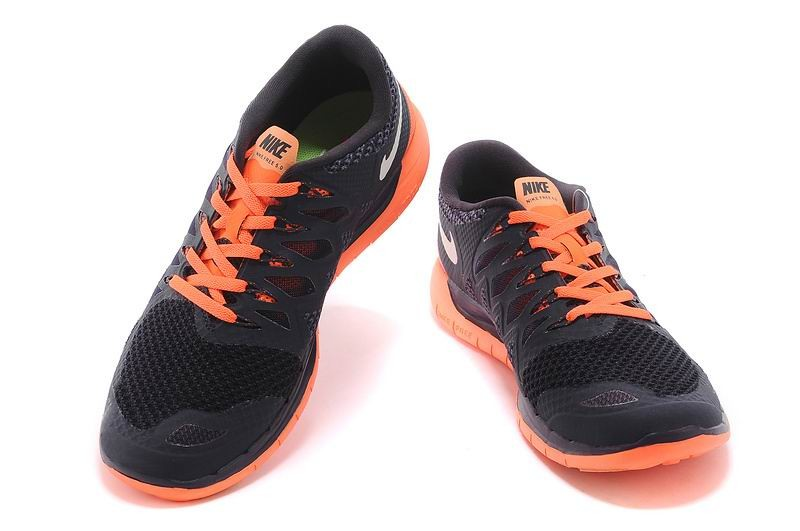 Nike Free 5.0 2014 Men\'s Running Shoe Black Orange
