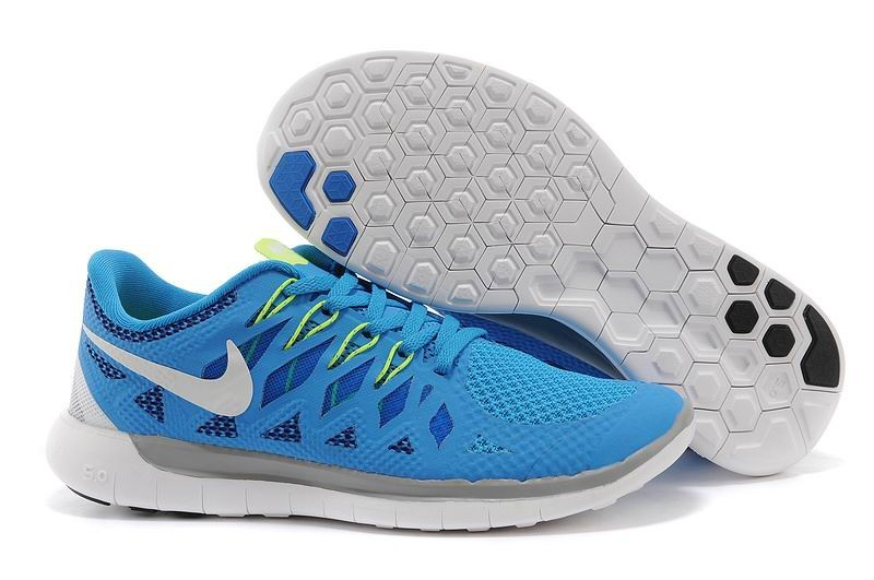 Nike Free 5.0 2014 Men's Running Shoe Blue White