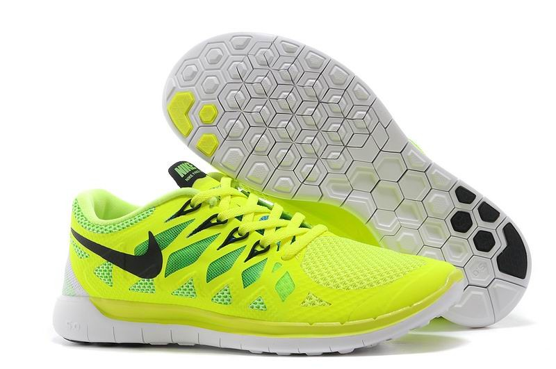 Nike Free 5.0 2014 Men's Running Shoe Electric Yellow Black White