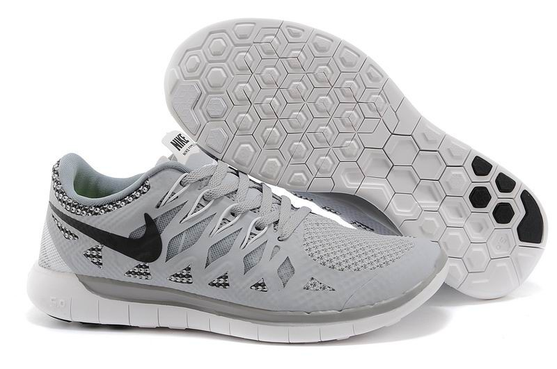 Nike Free 5.0 2014 Men's Running Shoe Grey Black