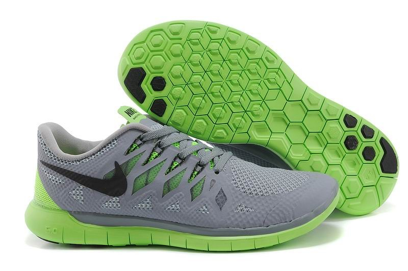 Nike Free 5.0 2014 Men's Running Shoe Grey Green