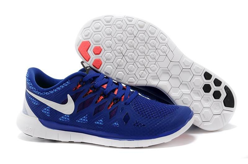 Nike Free 5.0 2014 Men's Running Shoe Navy Blue Red White
