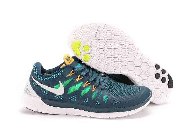 Nike Free 5.0 2014 Men\'s Running Shoe Nightshade Green Orange White