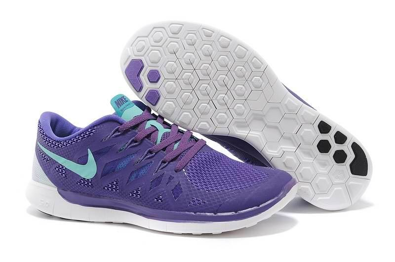 Nike Free 5.0 2014 Men's Running Shoe Purple Blue
