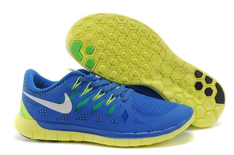 Nike Free 5.0 2014 Men's Running Shoe Royal Blue Electric Yellow