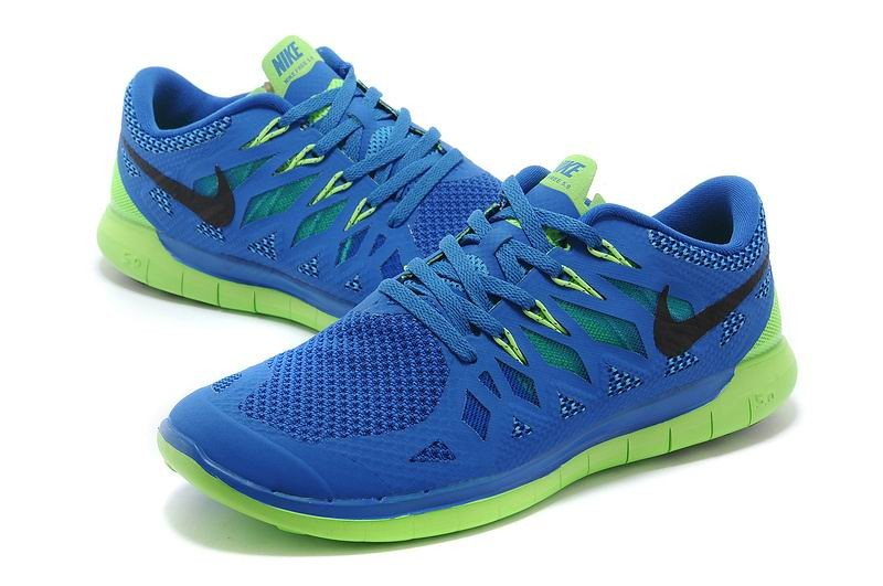 Nike Free 5.0 2014 Men\'s Running Shoe Royal Blue Green